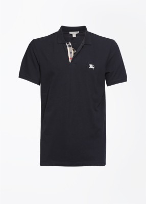 Burberry Solid Men's Polo T-Shirt