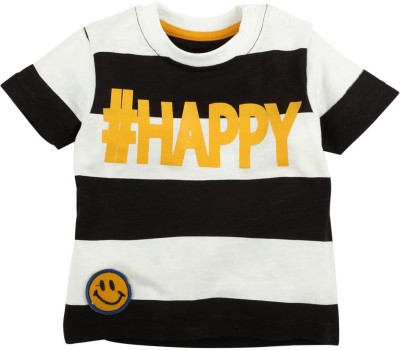 Fisher-Price Striped Boy's Round Neck Multicolor T-Shirt