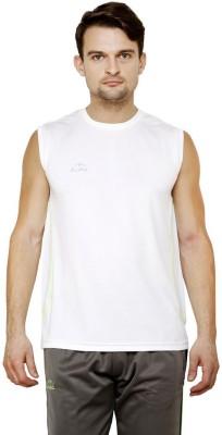 Dida Sportswear Solid Men's Round Neck White T-Shirt