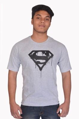 styzon Graphic Print Men,s, Boy's Round Neck Grey T-Shirt