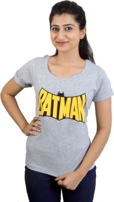 EEIA Printed Women's Scoop Neck Grey T-Shirt