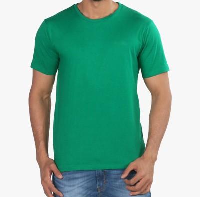 Senator Solid Men's Round Neck Green T-Shirt