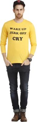 Cali Republic Printed Men's Round Neck Yellow, Black T-Shirt