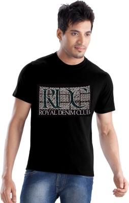 Force Go Wear Graphic Print Men's Round Neck Black T-Shirt