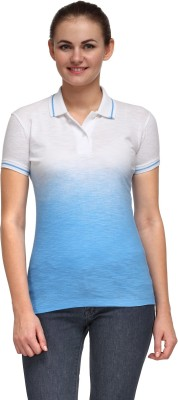 Flippd Solid Women's Polo Neck T-Shirt
