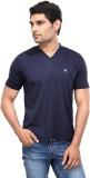 Dazzgear Solid Men's V-neck Blue T-Shirt