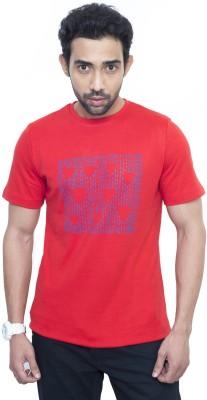 Fabnavitas Printed Men's Round Neck Red T-Shirt