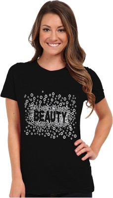 So Sweety Graphic Print Women's Round Neck Black T-Shirt