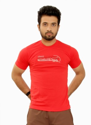 MountainColours Solid Men's V-neck Red T-Shirt