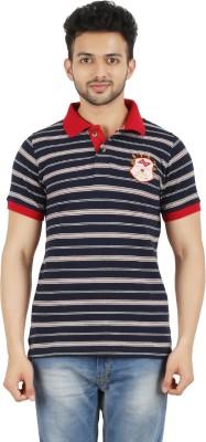 AeVe Striped Men,s Polo Neck T-Shirt