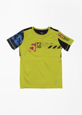 Reebok T- shirt For Boys & Girls(Green, Pack of 1)