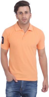 Jura Polo Solid Men's Polo Neck Reversible Orange T-Shirt
