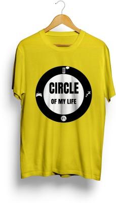 Teeforme Printed Men's Round Neck Yellow T-Shirt