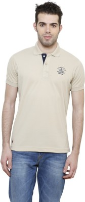 Riverstone Solid Men's Polo Neck Grey T-Shirt