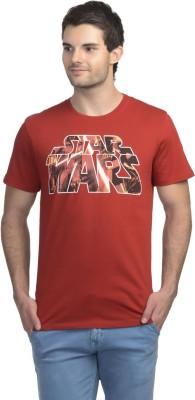 Star Wars Printed Men's Round Neck Red T-Shirt
