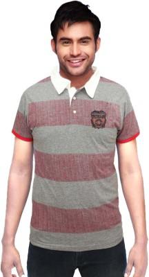 Gallop Striped Men's Polo Neck Multicolor T-Shirt