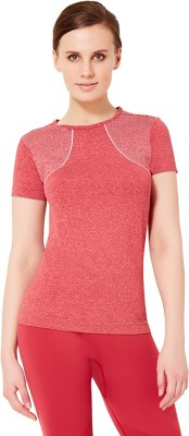 Amante Sports Short Sleeve Solid Women's Red Top