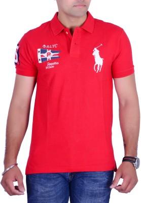 Ralph Lauren Solid Men's Polo Neck Red T-Shirt