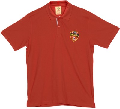 Global Nomad Solid Men's Polo Red T-Shirt