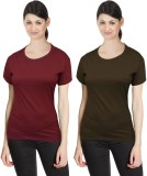Neo Garments Solid Women's Round Neck Ma...