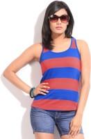 Alibi Striped Women's Round Neck Blue, Red T-Shirt best price on Flipkart @ Rs. 399
