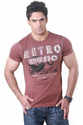 Hebe Printed Men's Round Neck T-Shirt