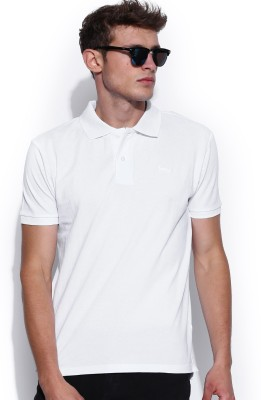 Fox Solid Men's Polo Neck T-Shirt