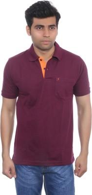 Studio Nexx Solid Men's Polo Maroon T-Shirt