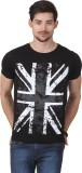 Frost Printed Men's Round Neck Black T-S...