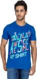 Tee Kadai Printed Men's Round Neck Blue ...