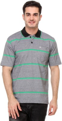 Rose Taylor Striped Men,s Polo Grey T-Shirt