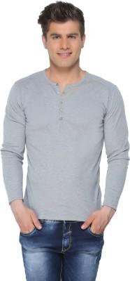 DXI Solid Men's Mandarin Collar T-Shirt