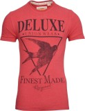 Drastic Printed Men's Round Neck Red T-S...