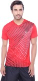 Valentine Solid Men's V-neck Red T-Shirt