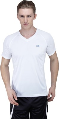 T10 Sports Solid Men's V-neck T-Shirt
