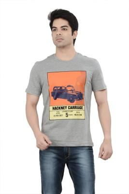 London Bridge Printed Men's Round Neck Grey T-Shirt