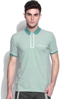 883 Police Solid Men's Polo Neck Green T-Shirt