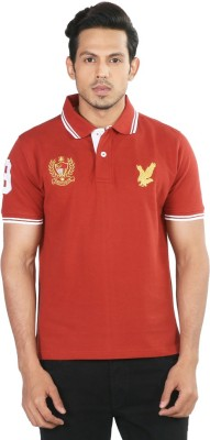 Provogue Solid Men's Polo Red T-Shirt