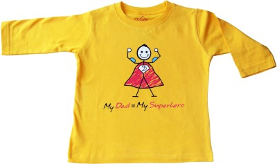 Acute Angle Printed Boy,s Round Neck Yellow T-Shirt