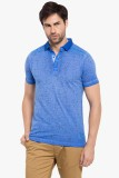 Copperstone Solid Men's Polo Neck Blue T...