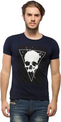 Alan Jones Graphic Print Men's Round Neck Dark Blue T-Shirt