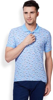 3 Degre Printed Men,s Polo Neck T-Shirt
