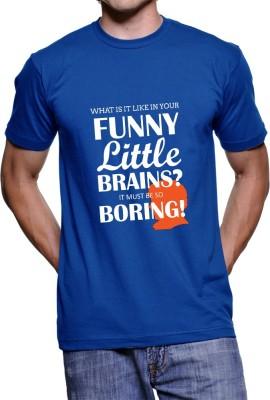 Fanideaz Printed Men's Round Neck Blue T-Shirt