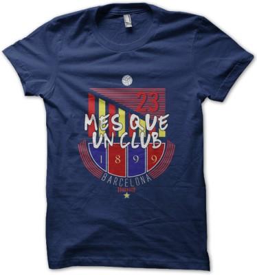 EETEE Printed Men's Round Neck Dark Blue T-Shirt