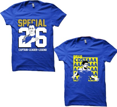 EETEE Printed Men's Round Neck Blue, Blue T-Shirt
