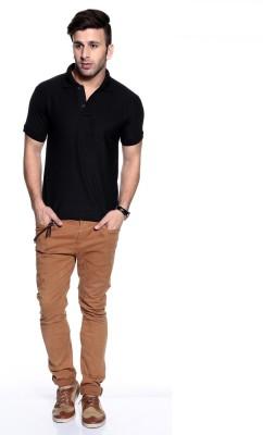 Purys Solid Men,s Polo Black T-Shirt