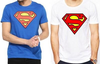 Sprat Graphic Print Men's Round Neck Blue, White T-Shirt
