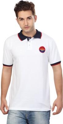 Free Spirit Solid Men's Polo White T-Shirt