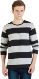 Rigo Striped Men's Round Neck Black, Gre...
