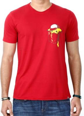 ComicSense Printed Men,s, Women's Round Neck Red T-Shirt